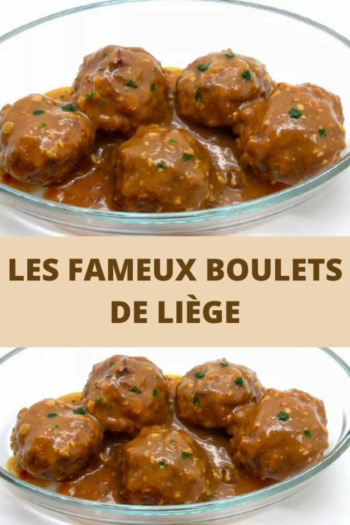 boulets de Liège spécialité culinaire traditionnelle