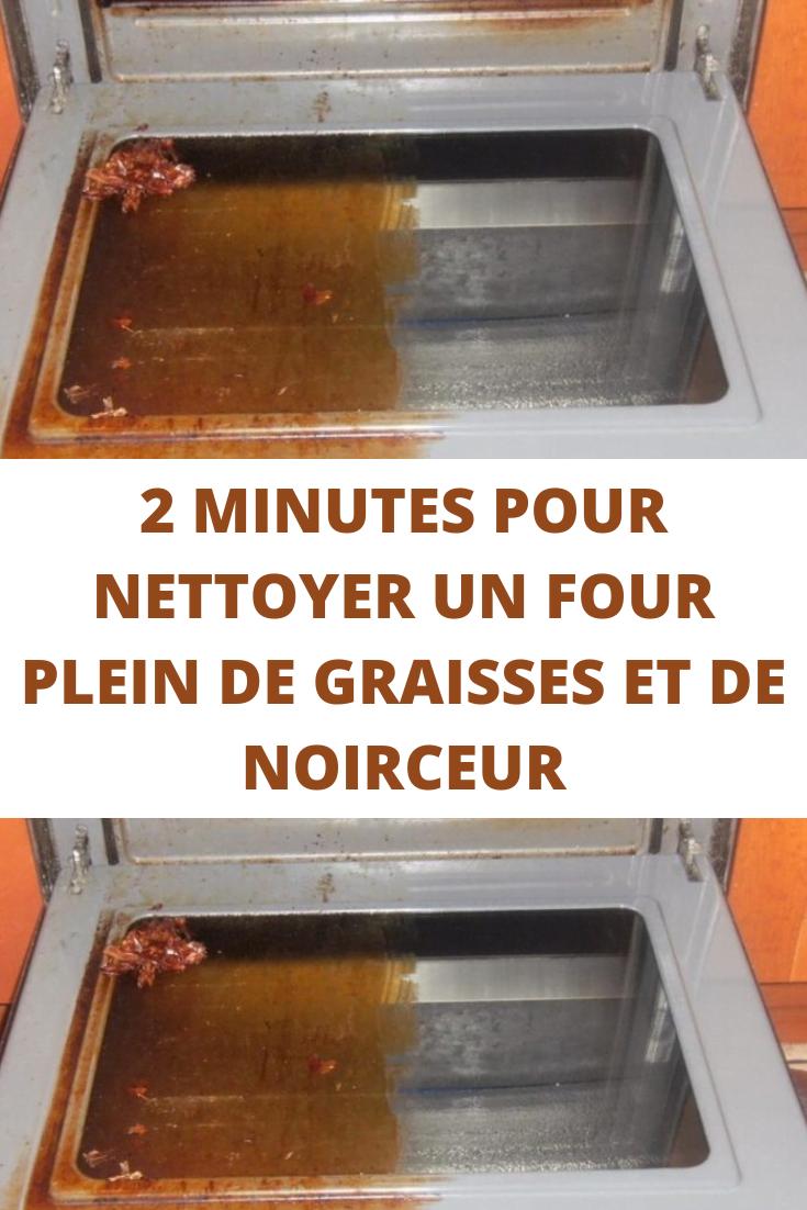 Nettoyer un four plein graisses noirceur en 2 minutes