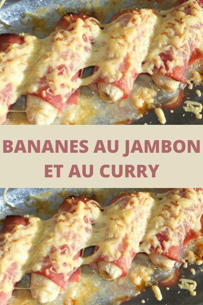 Bananes au jambon et au curry