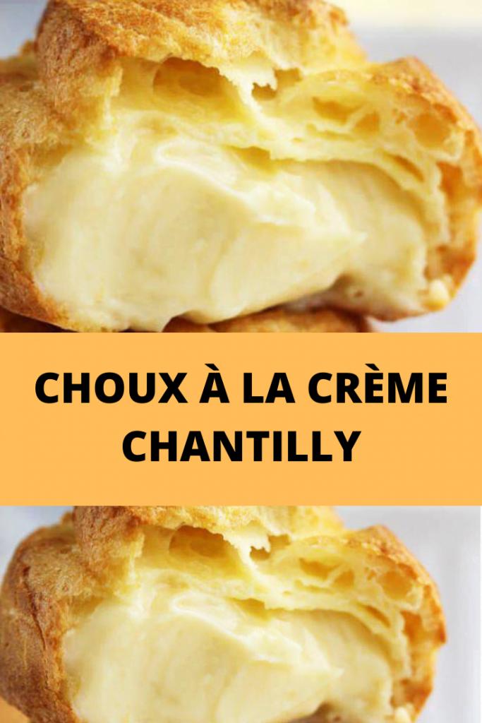 Choux à la Crème Chantilly