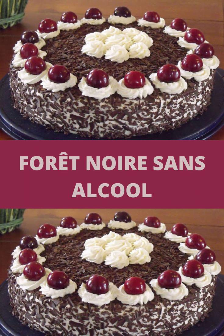 Forêt noire sans alcool fabuleux gâteau allemand