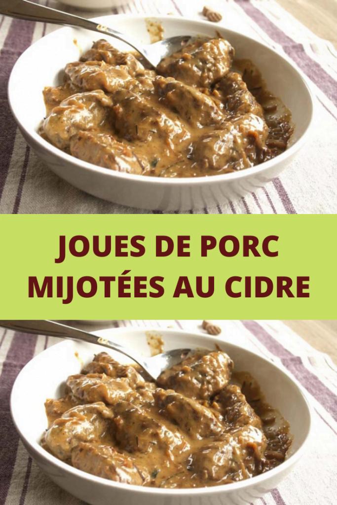 Joues de porc mijotées au cidre