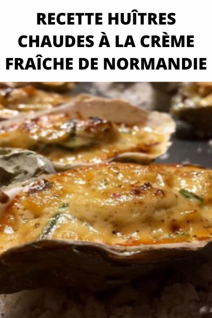 Recette Huîtres à la crème fraîche de Normandie