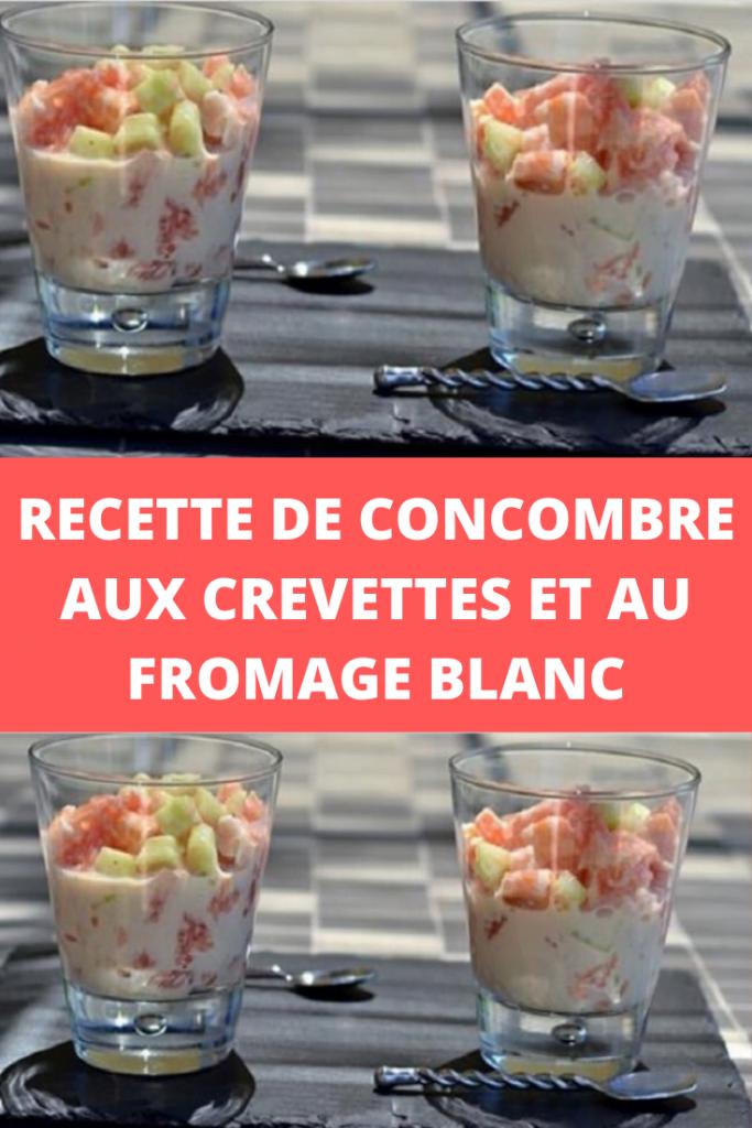 Verrine Concombre aux crevettes et au fromage blanc