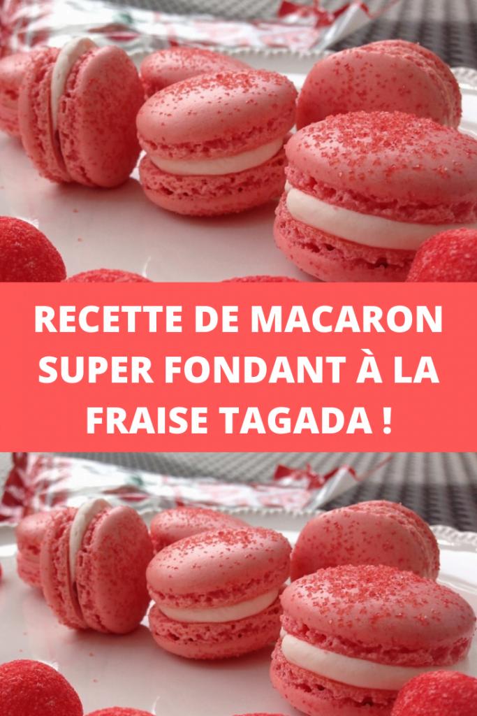Recette de macaron super fondant à la fraise Tagada !