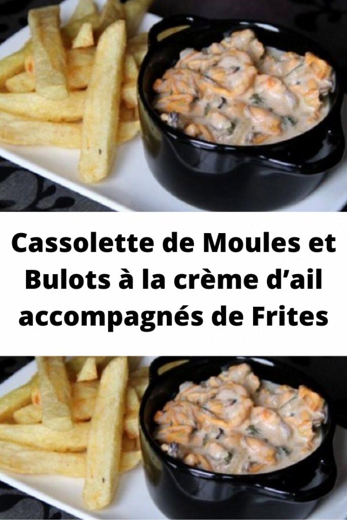 Cassolette de Moules et Bulots à la crème d'ail