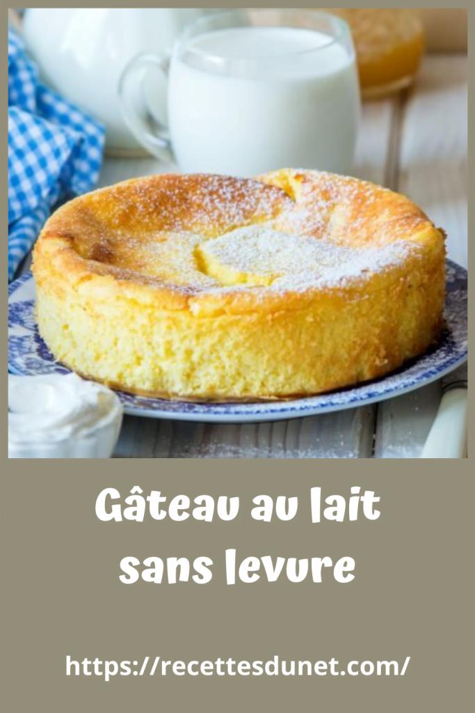 Gâteau ans levure