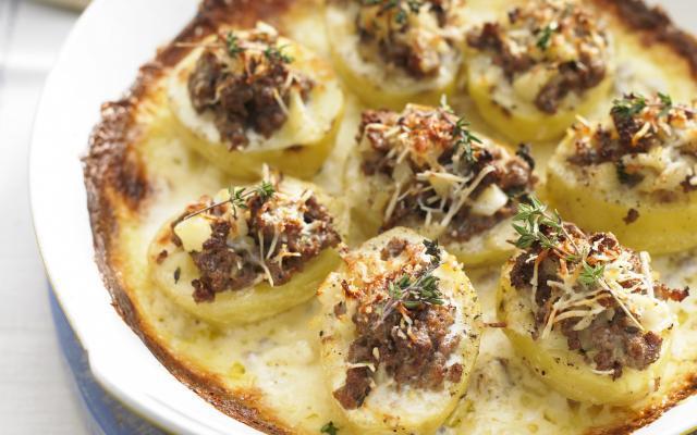 Gratin de pommes de terre farcies