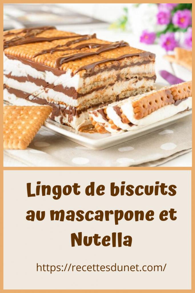 biscuits au mascarpone et Nutella