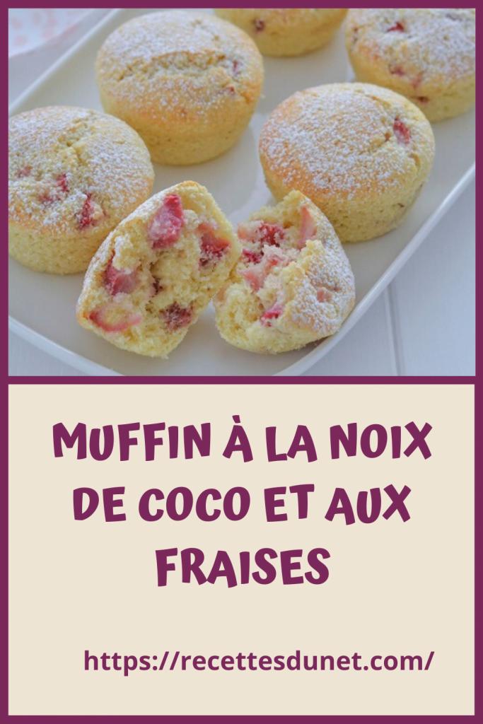 MUFFIN À LA NOIX DE COCO ET AUX FRAISES