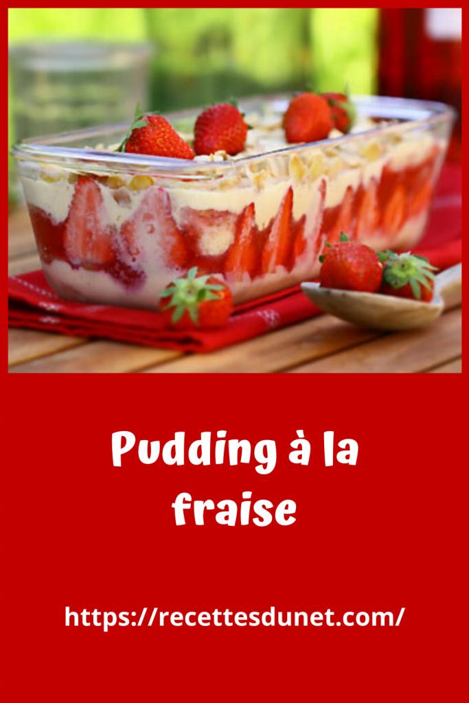 dessert Pudding à la fraise