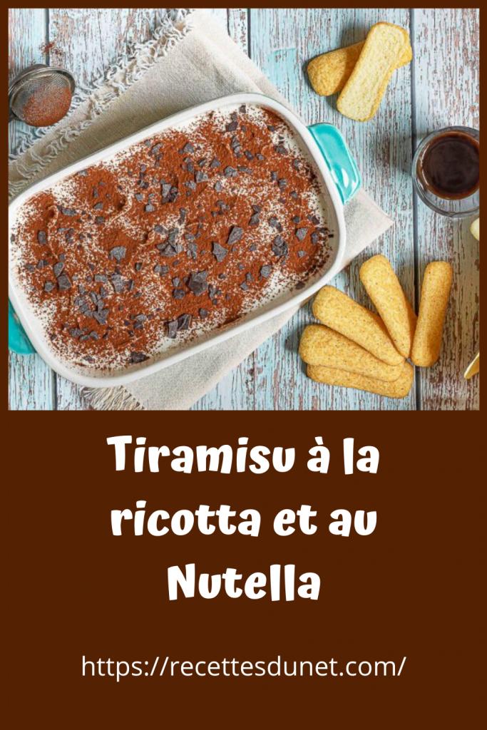 Tiramisu à la ricotta et au Nutella